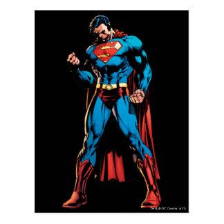 Superhombre - mano en el puño tarjetas postales