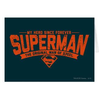 Superhombre - mi héroe desde para siempre tarjeta de felicitación