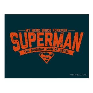 Superhombre - mi héroe desde para siempre postal