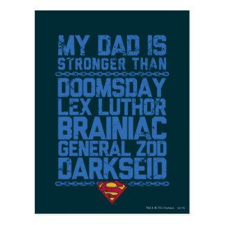 Superhombre - mi papá es más fuerte que… postal