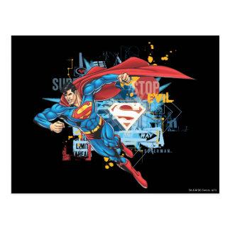 Superhombre - pare el mal postal