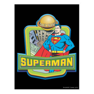 Superhombre - planeta diario tarjeta postal
