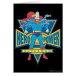 Superhombre - poder del héroe tarjeta de felicitación