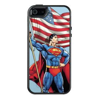 Superhombre que sostiene la bandera de los funda otterbox para iPhone 5/5s/SE