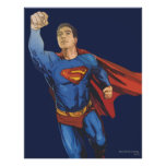 Superhombre que vuela a la izquierda póster