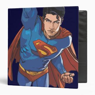 """Superhombre que vuela adelante carpeta 1 1/2"""""""