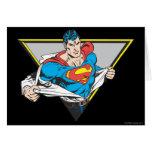 Superhombre revelador tarjetón