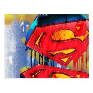 Superhombre Spraypaint urbano Tarjetas Postales