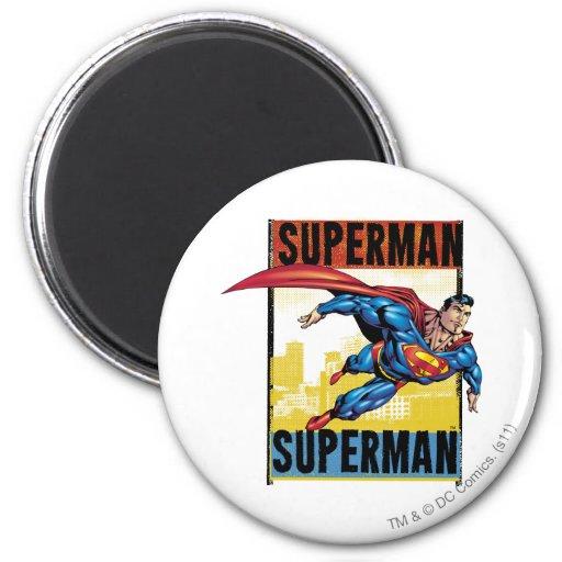 Superhombre, superhombre imanes para frigoríficos