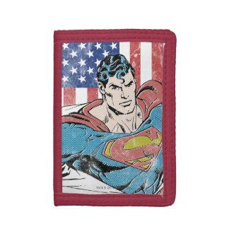 Superhombre y bandera de los E.E.U.U.