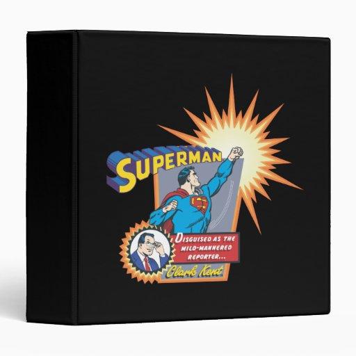 """Superhombre y Clark Kent Carpeta 1 1/2"""""""