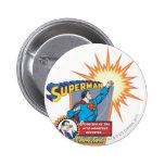 Superhombre y Clark Kent Pin Redondo 5 Cm