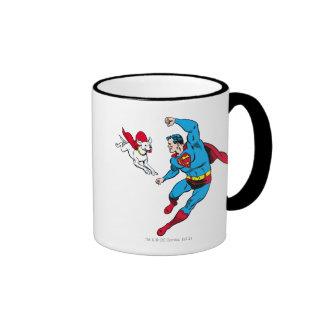 Superhombre y Krypto 2 Taza De Café