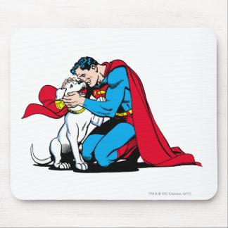 Superhombre y Krypto Tapetes De Raton