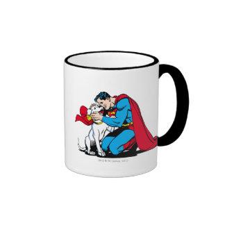 Superhombre y Krypto Tazas De Café
