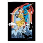 Superhombre y Lois en amarillo Tarjetas