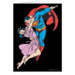 Superhombre y Lois en rosa Tarjeta De Felicitación