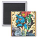 Superhombre y lucha verde Brainiac de la linterna Imán Cuadrado