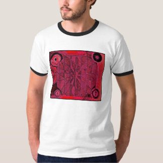 superimposition unemployed red T-Shirt