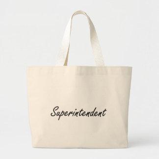 Superintendent Artistic Job Design Large Tote Bag