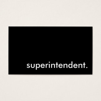 superintendent. business card