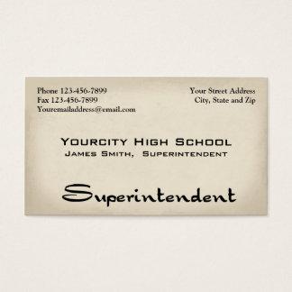 Superintendent Business Card