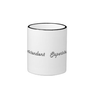 Superintendent Classic Job Design Ringer Coffee Mug