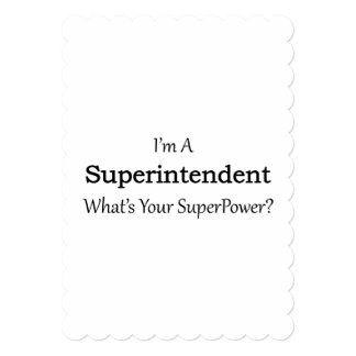 Superintendent 5x7 Paper Invitation Card