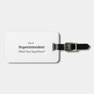 Superintendent Luggage Tag