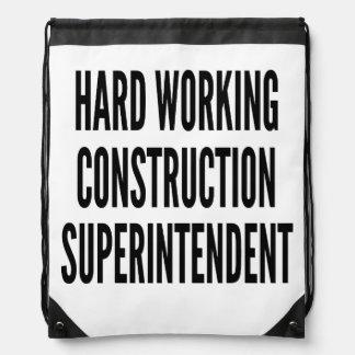 Superintendente de trabajo duro de la construcción mochila
