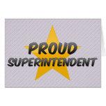 Superintendente orgulloso tarjetón