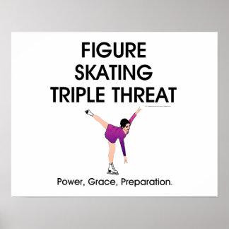 SUPERIOR amenaza triple del patinaje artístico Poster