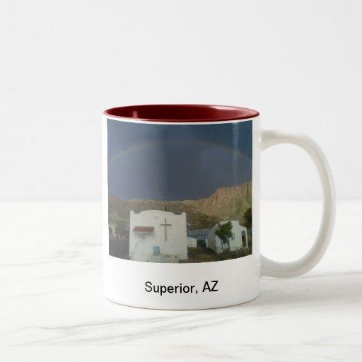 Superior, AZ Taza De Café De Dos Colores