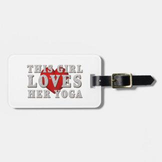 SUPERIOR este chica ama yoga Etiquetas Bolsas
