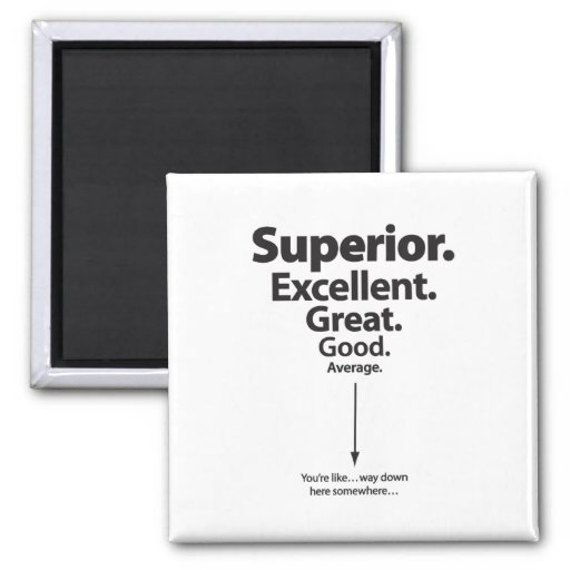 Superior, Excellent, Great – You're way down here Fridge Magnets