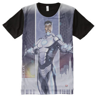 Superior Iron Man And City All-Over-Print T-Shirt