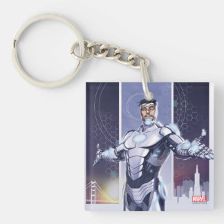Superior Iron Man And City Keychain