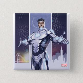 Superior Iron Man And City Pinback Button
