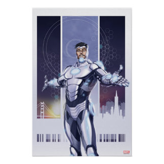 Superior Iron Man And City Poster