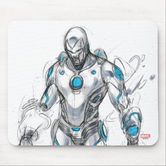 Superior Iron Man Sketch Mouse Pad