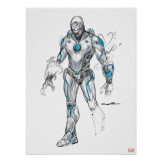 Superior Iron Man Sketch Poster