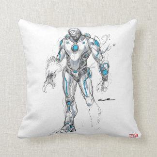 Superior Iron Man Sketch Throw Pillow