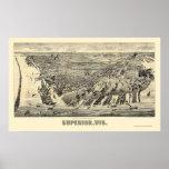 Superior, mapa panorámico de los WI - 1890 Posters