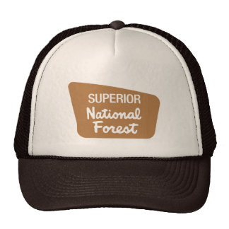 Superior National Forest (Sign) Mesh Hats