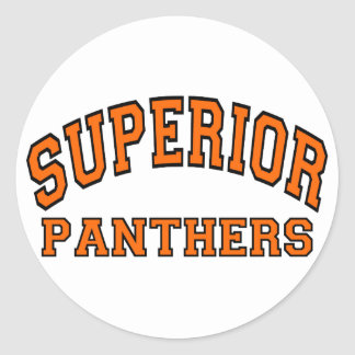 Superior Panthers Classic Round Sticker
