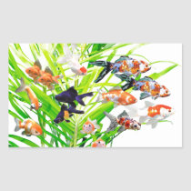 Superior product of goldfish rectangular sticker
