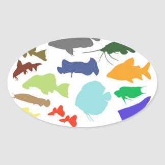 Superior product of shadow picture of color of fre oval sticker
