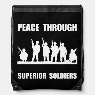 Superior Soldiers Drawstring Backpack