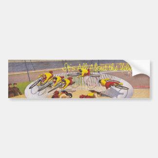 SUPERIOR todo sobre amarillo Etiqueta De Parachoque