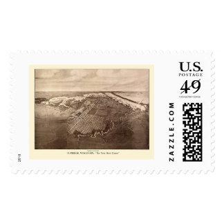 Superior, WI Panoramic Map - 1913 Stamp